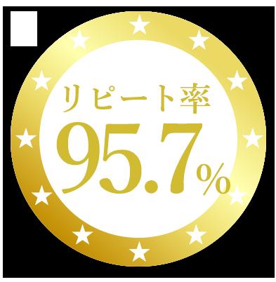 リピート率97.5%